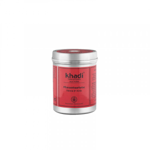 Henna & Amla, vopsea de par naturala - Rosu Intens, Khadi, 150g0