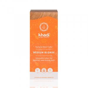 Medium Blonde, vopsea de par naturala - Blond Mediu, Khadi, 100g0