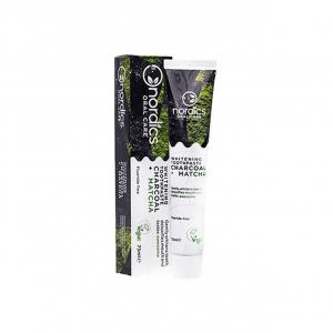 Pasta neagra de dinti, cu carbune activ si ceai verde Matcha, pentru albirea dintilor, Nordics, 75 g [0]