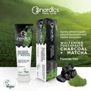 Pasta neagra de dinti, cu carbune activ si ceai verde Matcha, pentru albirea dintilor, Nordics, 75 g [2]