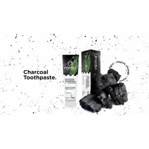 Pasta neagra de dinti, cu carbune activ si ceai verde Matcha, pentru albirea dintilor, Nordics, 75 g [1]