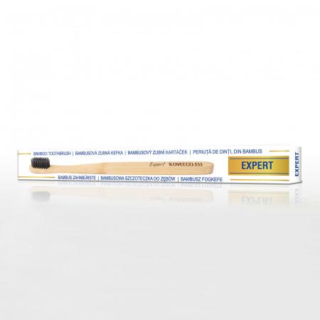 Periuță de dinți din bambus, Expert, peri foarte moi | Iloveeco1