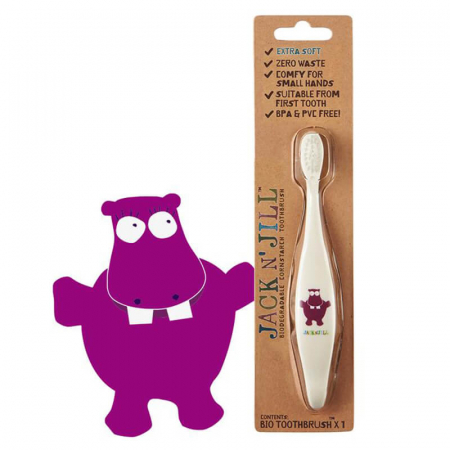 Periuță de dinți Eco pentru bebe și copii | Hippo, Jack N' Jill0