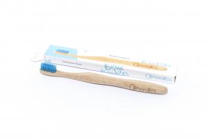 Periuta de dinti din bambus, pentru adulti, Nordics - albastru1