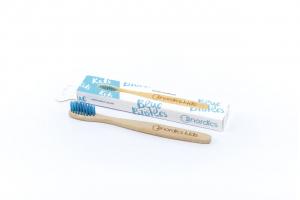 Periuta de dinti din bambus, pentru copii, Nordics - albastru1