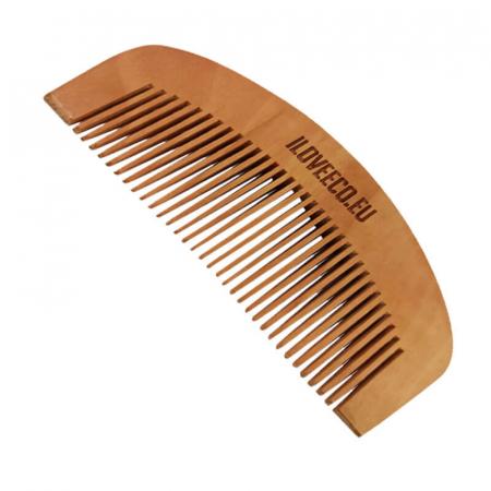 Pieptene din mahon pentru păr sau barbă | Iloveeco