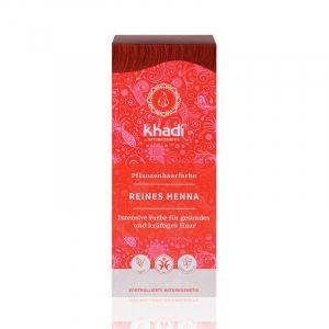 Pure Henna, vopsea de par naturala - Rosu Pur, Khadi, 100g0