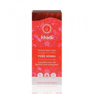 Pure Henna, vopsea de par naturala - Rosu Pur, Khadi, 100g1