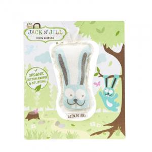 Săculeț din bumbac organic pentru păstrarea dinților de lapte, Bunny0