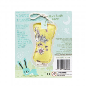 Saculet din bumbac organic pentru pastrarea dintilor de lapte, Bunny, Jack n' Jill1