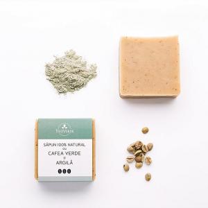 Sapun Natural cu Cafea Verde si Argila, Trio Verde, 110g0