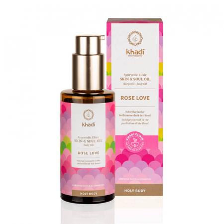 Ulei ayurvedic elixir Rose Love - Skin & Soul | Khadi, 100 ml [0]