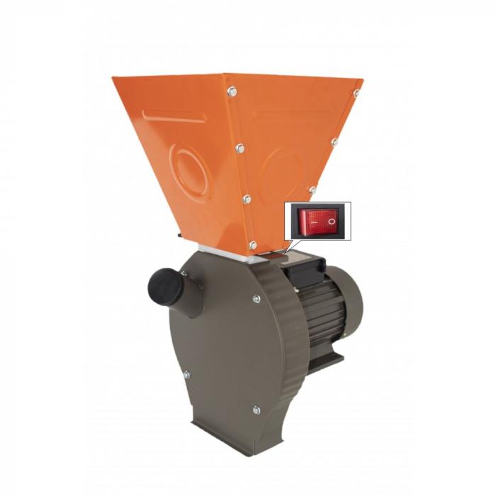 Moara cereale Elefant 3500LC, 3500 W, 3000 rpm, 200 kg/h, cuva mare [0]