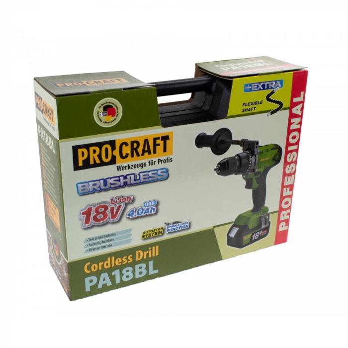 Autofiletanta Procraft PA18BL, 18V, 2 acumulatori, fara carbuni model 2020 [1]