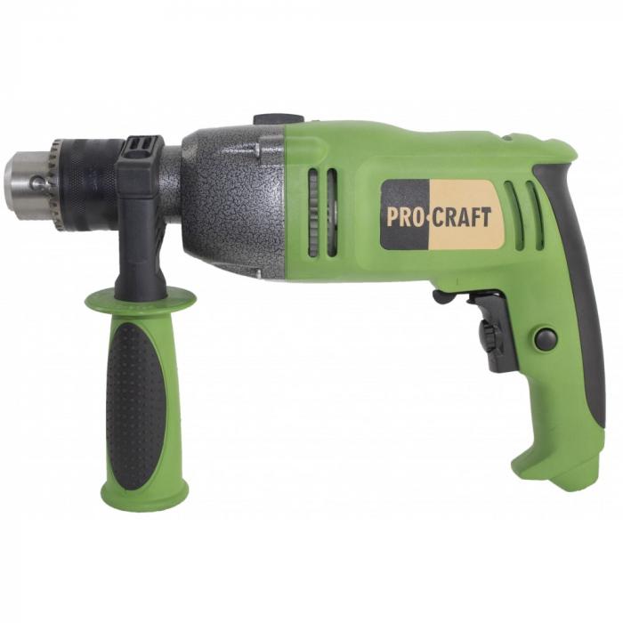 Bormasina cu percutie ProCraft PS1650, 1650W, 16mm, 3200rpm, produsul contine taxa timbru verde 2.5 Ron, 3.23 kg [0]
