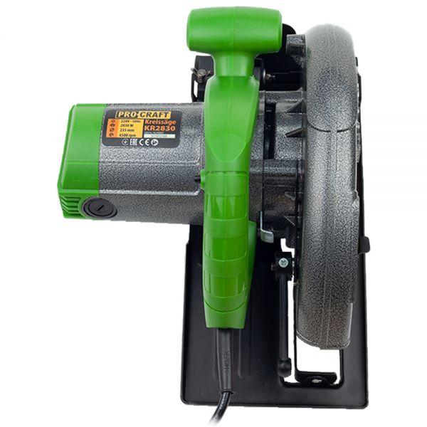 Circular electric de mana Procraft KR2830, 2.8 kW, 235 mm, 4500 rot/min [5]