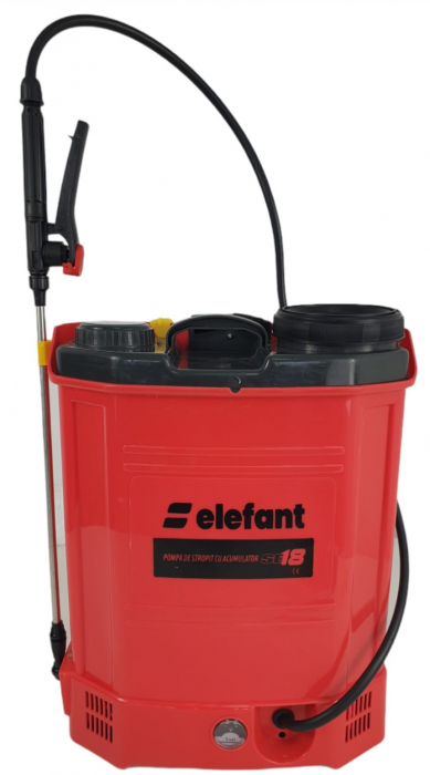 Pompa de stropit cu acumulator ELEFANT SE18L, 12V, tija 80cm [0]