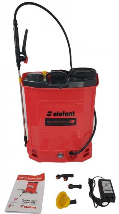 Pompa de stropit cu acumulator ELEFANT SE18L, 12V, tija 80cm [1]