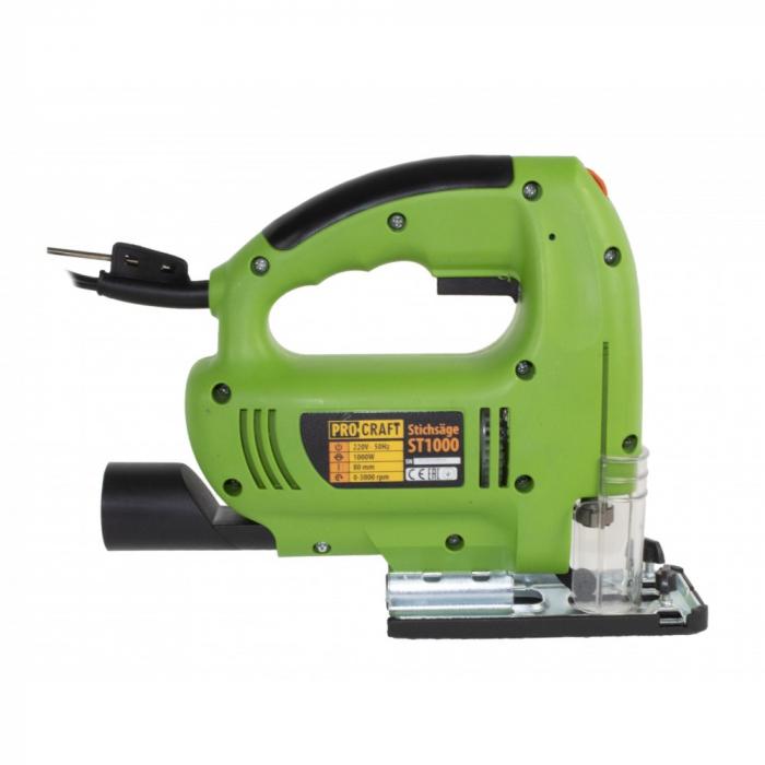 Fierastrau pendular Procraft ST 1000W, 3000 rot/min, produsul contine taxa timbru verde 2.5 Ron, 2.46 kg [2]