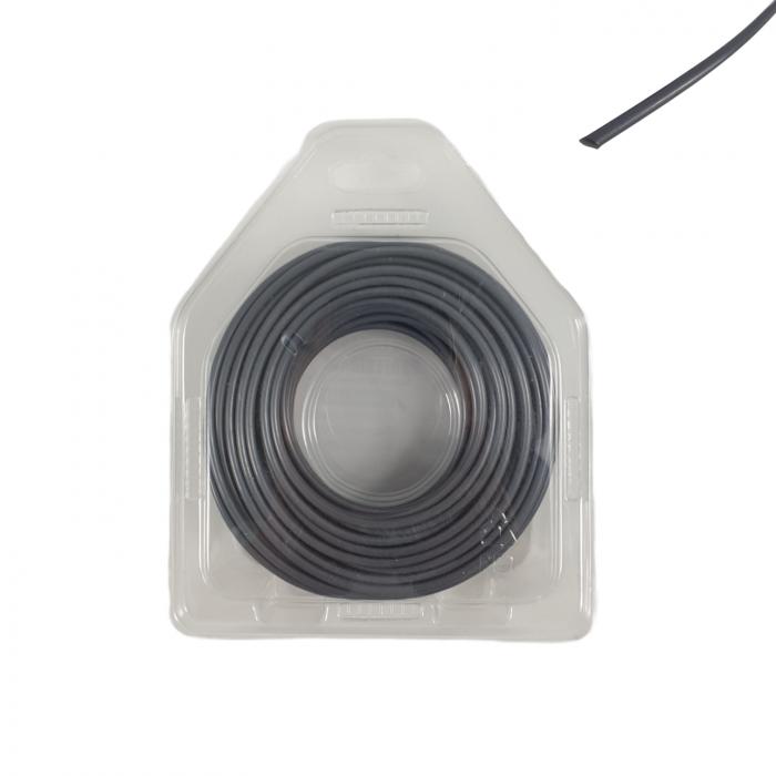 Fir tambur (rotund metal lines silver) 3.0mm x 15 m [1]