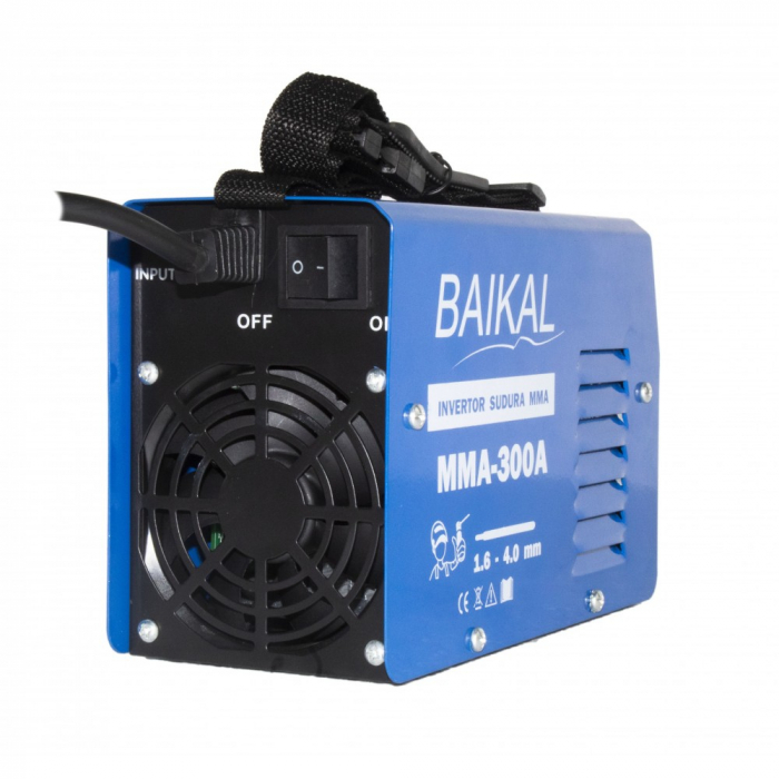 Invertor sudura MMA Baikal 300, 300A, Semi-Profesional, max 4 mm electrod [0]