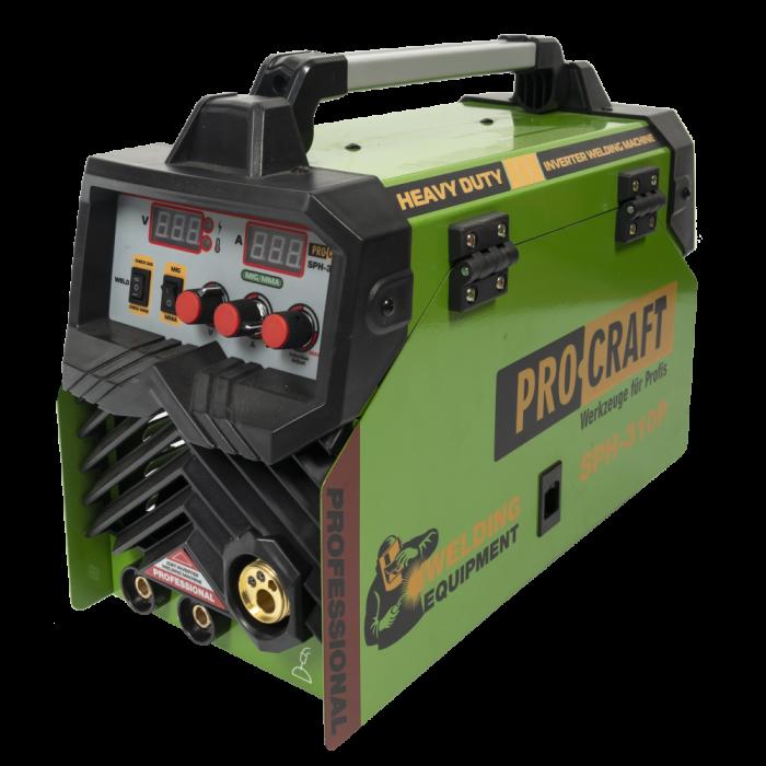 Invertor de sudura semi-automat, Procraft SPH-310P, 310A , 4mm, produsul contine taxa timbru verde 2,5 Ron, 16 kg [0]