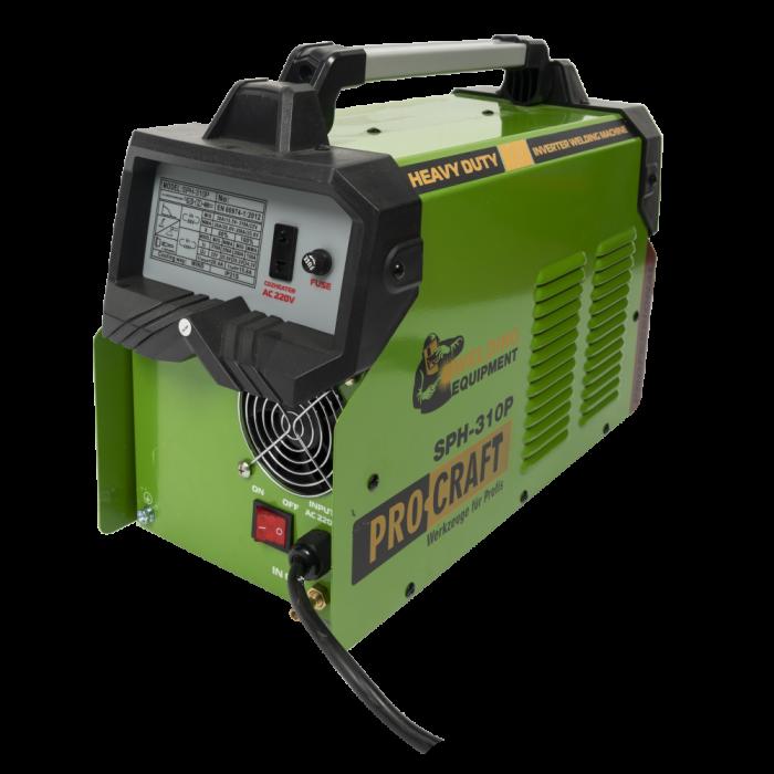 Invertor de sudura semi-automat, Procraft SPH-310P, 310A , 4mm, produsul contine taxa timbru verde 2,5 Ron, 16 kg [2]