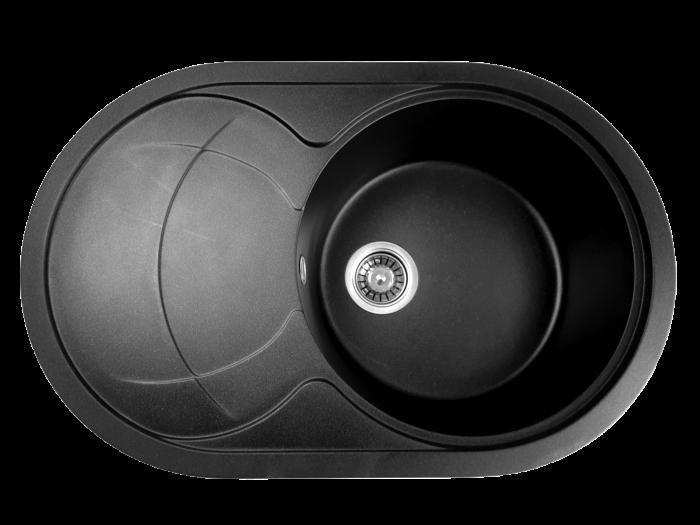 MIXXUS HB8310-G226 NEGRU, chiuveta ovala bucatarie granit [0]