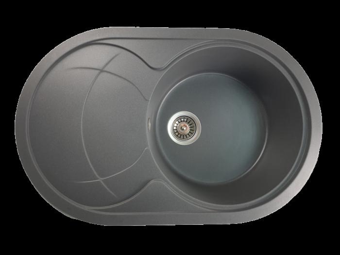 MIXXUS HB8310-G228 GRI, chiuveta ovala bucatarie granit [0]