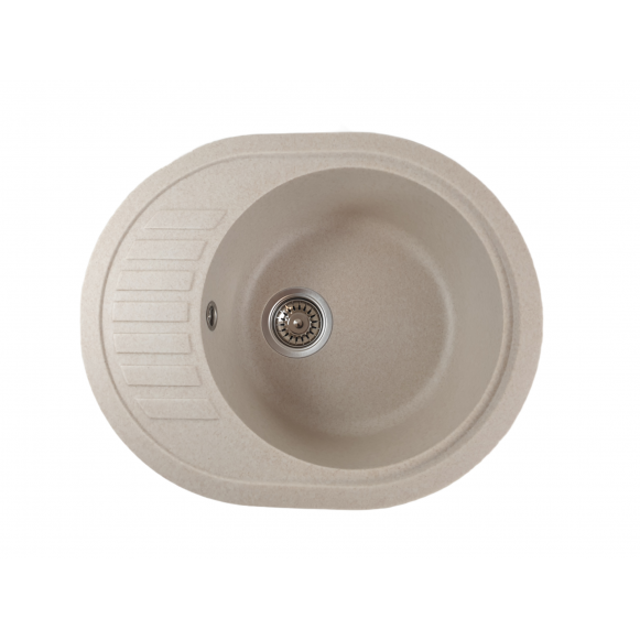 MIXXUS HB8311-G322 BEJ, chiuveta ovala bucatarie granit [0]