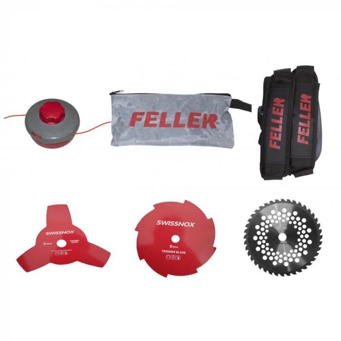 Motocoasa benzina Feller GT-4200, 4200W, 3 Discuri Inox + Tambur, Motor 52cc [2]