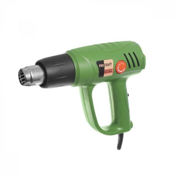 Pistol cu aer cald PROCRAFT PH2300E, 2300 W, 300-600°C, 500 - 600 l/min, produsul contine taxa timbru verde 2,5 Ron, 1 kg [2]
