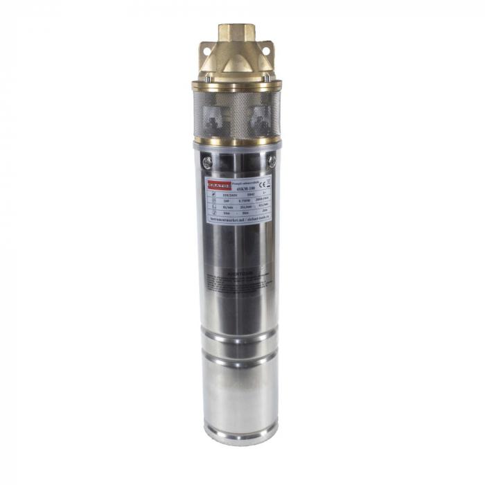 Pompa submersibila Kratos 4SKM-100, 0.75 CP, 41l/min, Turbina dubla, Cupru, produsul contine taxa timbru verde 2,5 Ron, 10 kg [0]