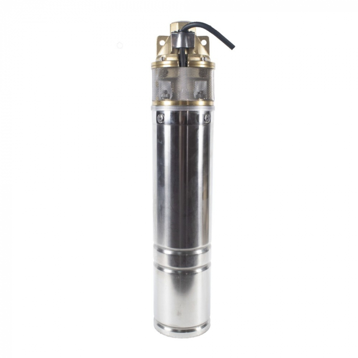 Pompa submersibila Kratos 4SKM-100, 0.75 CP, 41l/min, Turbina dubla, Cupru, produsul contine taxa timbru verde 2,5 Ron, 10 kg [2]