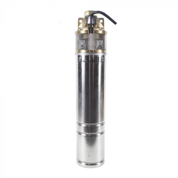 Pompa submersibila Kratos 4SKM-150, 1.5 CP, 41l/min, Turbina dubla, Cupru, produsul contine taxa timbru verde 2,5 Ron, 12,73 kg [0]
