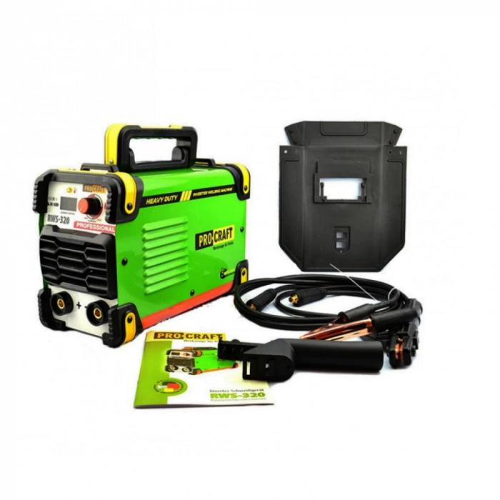 PROCRAFT RWS320 invertor de sudura , produsul contine taxa timbru verde 2.5 Ron, 4,8 kg [0]