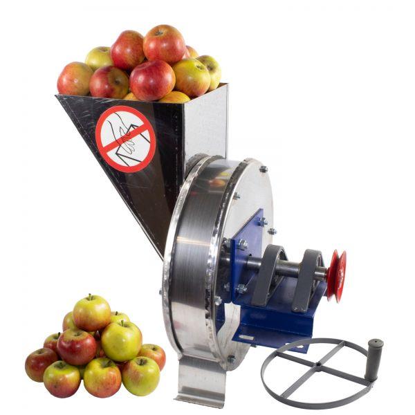 Razatoare fructe Vinita, manuala + fulie atasare motor, Tambur+cuva inox [0]