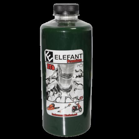 Ulei verde amestec ELEFANT, motoare 2 Timpi, 1L ,30 ml/l [0]