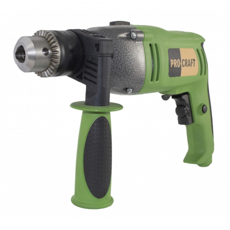 Bormasina cu percutie ProCraft PS1650, 1650W, 16mm, 3200rpm, produsul contine taxa timbru verde 2.5 Ron, 3.23 kg [1]