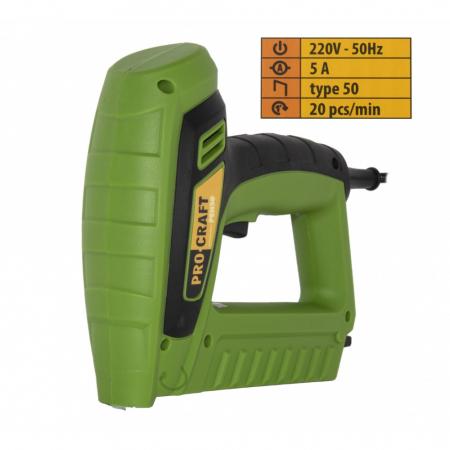 Capsator electric Procraft PEH50, pistol capse TYPE50, 5A, produsul contine taxa timbru verde 2.5 ron, 1.3 kg [0]