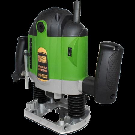 Freza lemn ProCraft POB1700, 1700 W, 16000-30000 RPM, 50 mm + Set 12 freze pentru lemn,produsul contine taxa timbru verde 2 Ron, 4.63 kg [2]