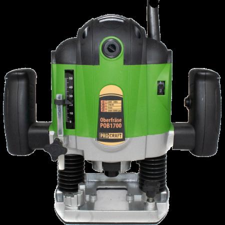 Freza lemn ProCraft POB1700, 1700 W, 16000-30000 RPM, 50 mm + Set 12 freze pentru lemn,produsul contine taxa timbru verde 2 Ron, 4.63 kg [0]