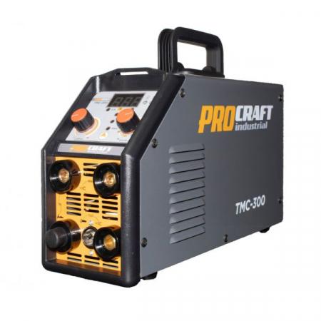Invertor Plasma Procraft TMC 300, 3 in 1, MMA, TIG + Accesorii, Gama Profesionala [4]