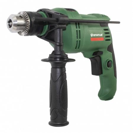 Masina de gaurit cu percutie STATUS DP550, 550W, mandrina 13 mm, 3000 RPM,produsul contine taxa timbru verde 2.5 Ron, 2 kg [1]