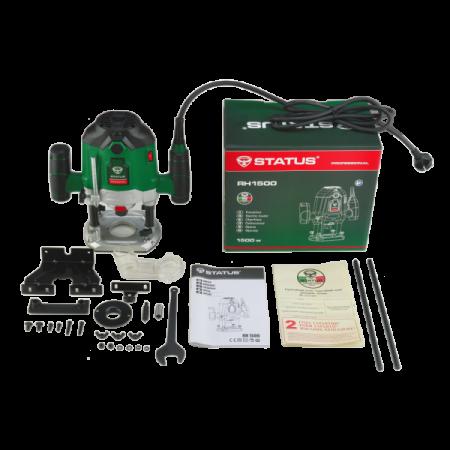 Masina de frezat electrica Status RH 1500, router lemn, 1500W, 26000 rpm + set accesorii [2]