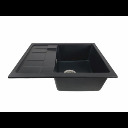 MIXXUS HB8210-G226 NEGRU, chiuveta bucatarie dreptunghiulara din granit [1]