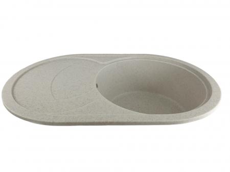 MIXXUS HB8310-G319 NISIP, chiuveta ovala bucatarie granit [1]