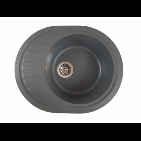 MIXXUS HB8311-G228 GRI, chiuveta ovala bucatarie granit [0]