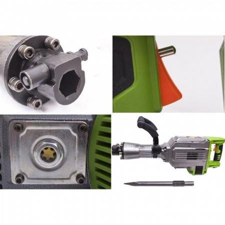 Picamer ciocan demolator ProCraft PSH2700, 2700 W, 48 J, 1400 BPM + dalta si spit, produsul contine taxa timbru verde 6 Ron, 21 kg [1]