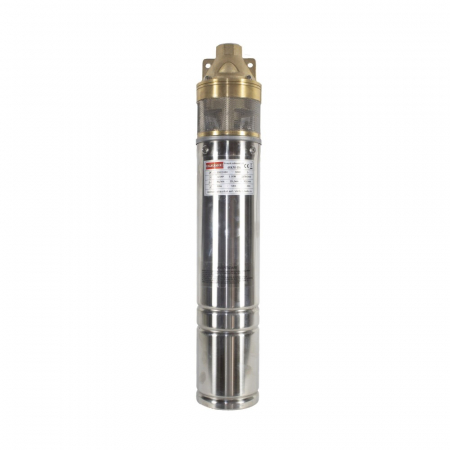 Pompa submersibila Kratos 4SKM-150, 1.5 CP, 41l/min, Turbina dubla, Cupru, produsul contine taxa timbru verde 2,5 Ron, 12,73 kg [3]